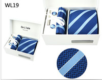 Wholesale 10pcs silk Groom Ties Bridegroom Tie tie handkerchief sleeve button collar bar