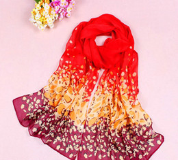 Wholesale 30pcs Hot selling Red Cheap women s fashion chiffon scarves Spring and summer beach scarves Korean fashion long scarf