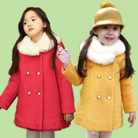 Coat Girl Spring / Autumn Child Overcoat Breasted Coat Girl Clothes Fashion Princess Coats Children Outwear Kids Clothing Long Coat Wool Coat Winter Coats nmjg