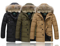 Wholesale 2014 new men s down jacket Men s long sections thicker business white duck feather