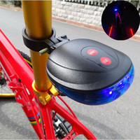 Wholesale New Blue Bicycle Bike Cycling Led Laser tail Light Safety Rear Warning Lamp flash models Drop shipping