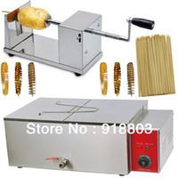 Wholesale 3 in Tornado Potato Twister Potato Spiral Potato Cutter Electric Deep Fryer cm Bamboo Skewers