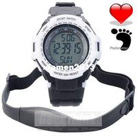 Accessories Wristwatches China (Mainland) Chest Strap Pedometer Heart Rate Calories Digital Sports Watch with LCD Monitor Exercise Memory Mode Stopwatch 3ATM Water Resist
