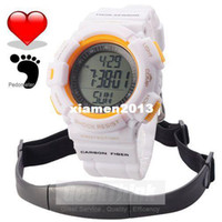 Accessories Wristwatches China (Mainland) Chest Strap Pedometer Heart Rate Calories Digital Sports Watch with LCD Monitor Exercise Memory Mode 3ATM Water Resist For Women