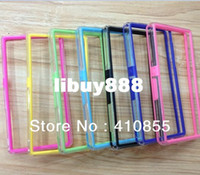For Sony Ericsson TPU Bumper PC + TPU Hybrid Clear Gel Bumper Case For Sony Xperia Z L36h, With Retail Packaging, 100pcs By DHL Freeshipping