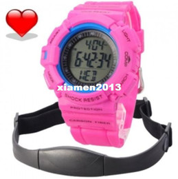 Wholesale Pulse Heart Rate Watch Calorie Burned Sport Monitor Wrist Watch with Pedometer With wireless Chest Strap Outdoor