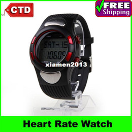 Wholesale Fitness Stylish Digital Sport Watch Heart Rate Monitors Pulse Watch with Pedometer