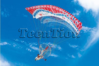 Electric 2 Channel 1:4 (Non-orignal package)New RC Paracopter - R C Parachute Glider - Gold Rostta 655 rc airplane free shipping