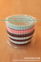 Wholesale Three color boxed high temperature resistant paper tray cup cake cupcake
