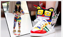 Wholesale Size Children Boys Girls Maya Totem Shoes Training Sport Ethnic Kids Sneaker Colorful Wing Flying Kids Athletic Shoes Wear QZ361