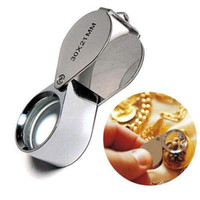 Wholesale S5Q x mm Lens Metal Pocket Jeweler Eye Loupe Magnifier Jeweler Magnifying AAAANZ