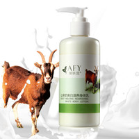 Wholesale AFY Goat Milking Nourishing White Body Lotion Goat Milk Body Cream Goats Milk Silky Body Lotion Skin Care Cream Full body Whitening Moisture