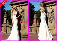 Reference Images One-Shoulder Satin 2014 Tarik Ediz 92092 Elegant White One shoulder Mermaid Stain Bows Beaded Ruffles Evening dresses Floor Length Formal Prom Dress Gowns