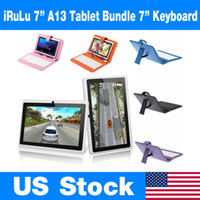 "US Stock! Q88 7"" Tablet PC PU Leather Keyboard Stand Ca..."