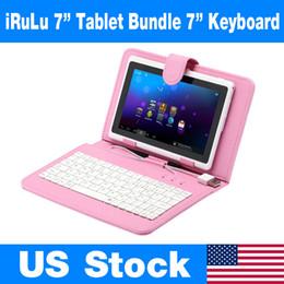 Wholesale US Stock Q8 pouces Android Tablet PC Go Allwinner A33 double caméra WIFI iRuLu Kids Tablet Bundle USB Keyboard Case