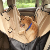 Wholesale Waterproof pet car mat rear dog two seater car mats luxury pet back seat car mat double layer thickening