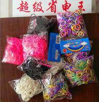 Jelly, Glow Mexican Women's Rainbow Loom Bracelets Rubber DIY Bands Twistz Bands Glow in the dark Neon glitter Mixed Style all color 300 pcs bands +12 pcs clips +1 pcs