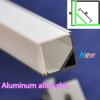 Wholesale 1 m U Channel LED Aluminum Slot Profile with Waterproof Cover led tube cover for Led bar light