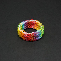 Big Kids Multicolor Silicone Rainbow Loom DIY Rubber Bands PackTwistz bracelets for kids Glow in the dark Neon Glitter Mixed Style 300 Bands+12 S Clips +1 Hook Gift Toys