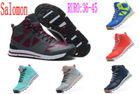 Wholesale Salomon SNOWCROSS Shoes Women And Men Running Shoes Outban Mid Shoes Outdoor Leisure Wear Non slip Sneakers Color Size
