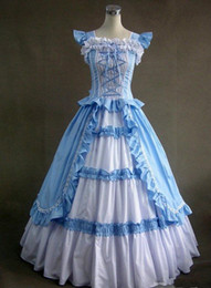 Discount Blue Victorian Dress Corset - 2017 Blue Victorian Dress ...