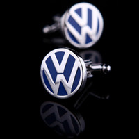 Wholesale Volkswagen Car Sign Shape Cufflinks men s cuff link free shippinng