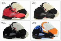 Wholesale 6 Different Colors New Air Retro V Children Boys Girls Kids Basketball Sport Footwear Sneakers Trainers Shoes Colours