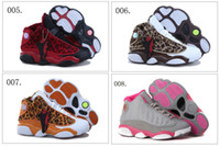 Wholesale 17 Different Colors Air Retro XIII Children Boys Girls Kids Basketball Sport Footwear Sneakers Trainers Shoes Colours