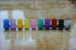 New arrival Acrylic drip tip Colorful 510 drip tips E Cig short Candy Mouthpiece fit ego 510 thread atomizer DCT vivi nova EE2 Clearomizer
