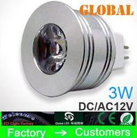 al por mayor centro de atención dc-Mini diámetro de 35 mm MR11 gu4 3W LED de 12V DC 12V AC llevó el bulbo de la lámpara de iluminación a casa de las bombillas de la lámpara ahorro de energía LED