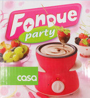 Wholesale Mini Chocolate Fountain Fondue with Plug for Home Party Use