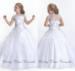 Flower Girl Dresses White Taffeta Online | Flower Girl Dresses ...