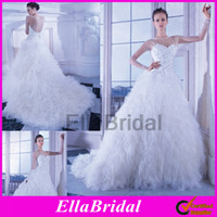 Ball Gown Reference Images Jewel 2014 Demetrios Gorgeous Ball Gown Court Train Ruffles Skirt Full Long Sleeve Sheer Beaded Church Bridal Wedding Dresses Dress Style 2873