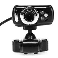 Wholesale US Stock LED Pixel USB HD Webcam Cam Camera Mic For Laptop PC Desktop Computer