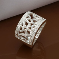 Wholesale noble New sterling Silver fashion cute Beautiful design hollow woman Austrian crystal Beautiful pretty ring R309