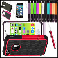 Wholesale Hybrid Rugged Impact Rubber Matte Robot Shock Proof Heavy Hard Case for iPhone S S C Samsung Galaxy S3 S4 MINI S5 i9600 NOTE touch