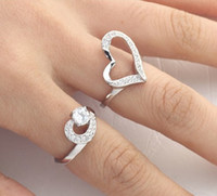 Band Rings Celtic lovers Sparkling CZ Diamond Rhinestone Heart Rings His and Hers Wedding Rings Valentine Jewelry r032