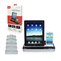 Wholesale Ipega Dual Dock Station Charging Charger Speaker for iPhone C S IPAD Air mini Best Gifts