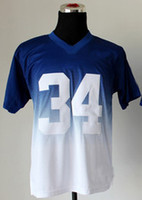 Football Men Short American Football Men`s Trent Richardson #34 Blue White Drift Fashion II Elite Jerseys Football Jerseys Mix Order