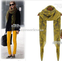 Wholesale Spring Korean version of the new fall and winter scarves shawl retro range of children cashew flower scarf Women Long T