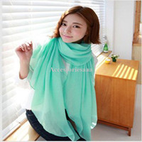 Wholesale autumn and winter explosion models in Europe and America Bali Sand Pure air conditioning shawl scarf fluorescent candy colored sc