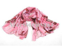 Wholesale Trumpet fashion scarves voile scarf winter warm sun Begonia flower scarf shawl factory