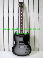 Solid Body 6 Strings Mahogany Custom Shop SG Standard Electric Guitar Silver Black Top High Quality Bestselling Guitar !!