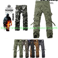 Wholesale 2014 Christmas New Men Casual Military ARMY CARGO army CAMO Combat Work Pants TROUSERS sportive Outdoor CS Man Colors SIZE gifts