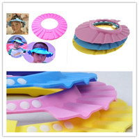 Wholesale Soft Baby Kids Children Shampoo Bath Shower Cap Hat Waterproof Wash Hair Shield Adjustable