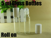 Wholesale 5ml roll on perfume bottles glass empty small perfume refillable bottle lip gloss container