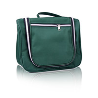 Wholesale Fashion essential travel capacity multi function wash bag Cosmetic Bag Green