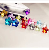 Wholesale Rhinestone Plum Diamond Samsung dust plug Apple headphone plugs iphone4S Apple phone dust plug mm diamond dust plug