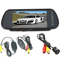 "Car Camera   7"" TFT LCD Mirror Monitor + Mini Wireless Sensor Reversing Parking Camera 170 Degree Angle Car Rear View Kit"