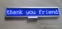 Wholesale Blue Programmable LED Moving Scrolling Message Display Sign Board quot x4 quot indoor
